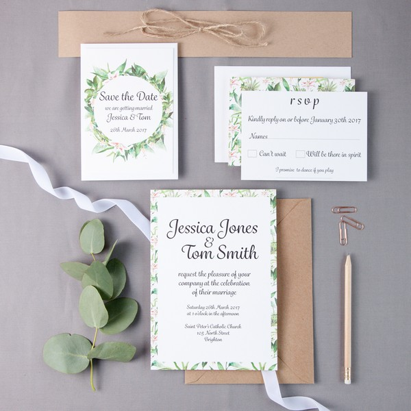 Franklin Floral Wedding Stationery Collection by Anna Jayne Designs