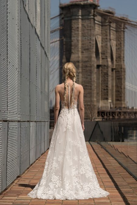 Back of Garbo Wedding Dress from the Rita Vinieris Alyne Spring 2019 Bridal Collection
