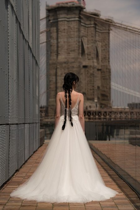 Back of Golda Wedding Dress from the Rita Vinieris Alyne Spring 2019 Bridal Collection