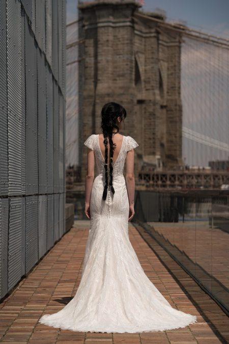 Back of Harlow Wedding Dress from the Rita Vinieris Alyne Spring 2019 Bridal Collection