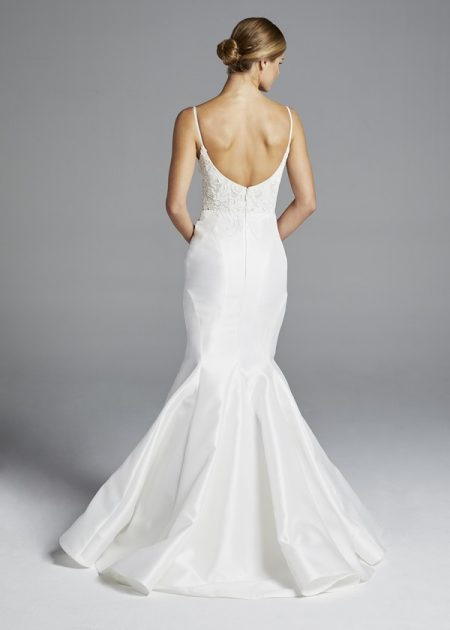 Back of Iman Wedding Dress from the Anne Barge Spring 2019 Bridal Collection