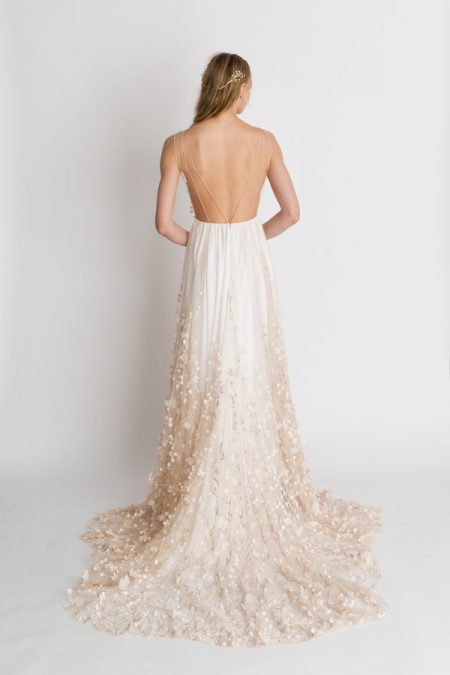Back of Iris Floral Wedding Dress from the Alexandra Grecco The Magic Hour 2018 Bridal Collection