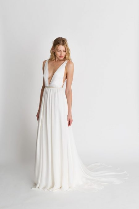 Iris Solid Wedding Dress from the Alexandra Grecco The Magic Hour 2018 Bridal Collection