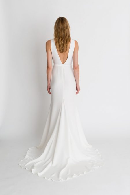 Back of Jaymes Wedding Dress from the Alexandra Grecco The Magic Hour 2018 Bridal Collection