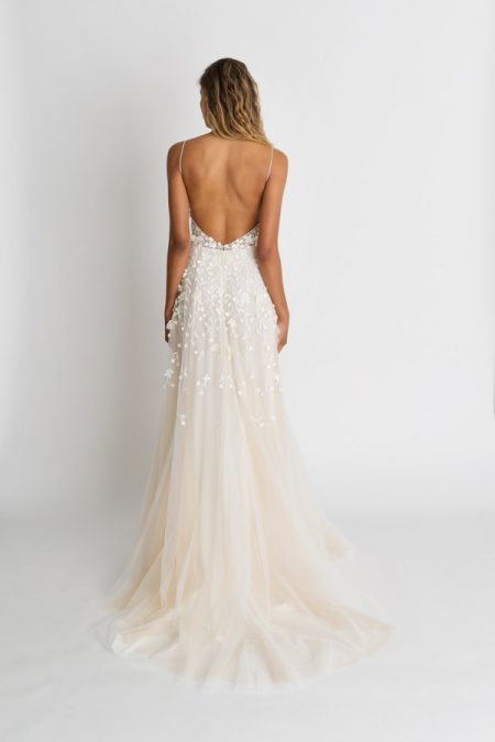 Back of Lana Wedding Dress from the Alexandra Grecco The Magic Hour 2018 Bridal Collection