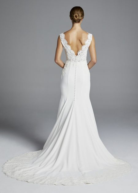 Back of Lana Wedding Dress from the Anne Barge Spring 2019 Bridal Collection