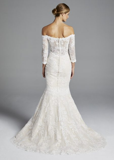 Back of Loren Wedding Dress from the Anne Barge Spring 2019 Bridal Collection