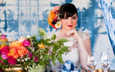 Indigo Shibori Wedding Inspiration