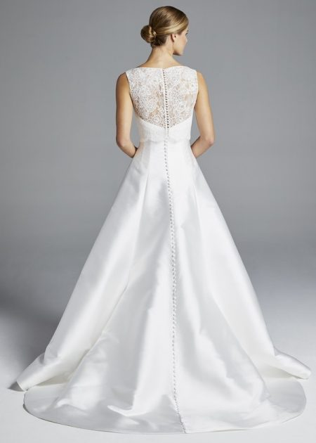 Back of Mindy Wedding Dress with Top from the Anne Barge Spring 2019 Bridal Collection