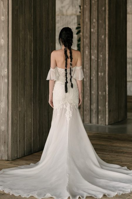 Back of Monroe Wedding Dress from the Rita Vinieris Rivini Spring 2019 Bridal Collection