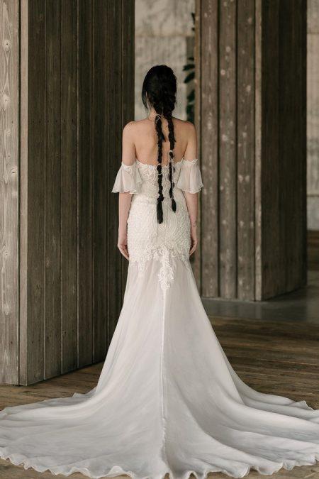 Back of Monroe Wedding Dress from the Rita Vinieris Rivini Spring 2019 Bridal Collection