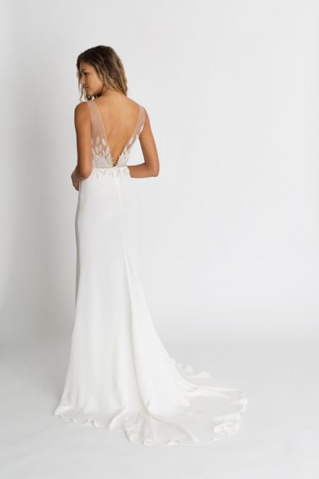 Back of Nima Wedding Dress from the Alexandra Grecco The Magic Hour 2018 Bridal Collection