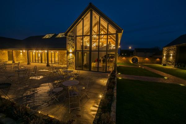 Orchard Barn at Blackwell Grange at Night