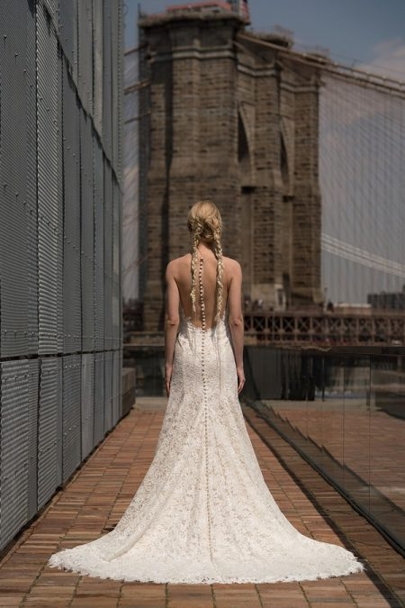 Back of Roosevelt Wedding Dress from the Rita Vinieris Alyne Spring 2019 Bridal Collection