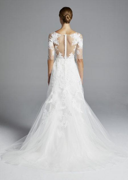 Back of Rossallini Wedding Dress from the Anne Barge Spring 2019 Bridal Collection