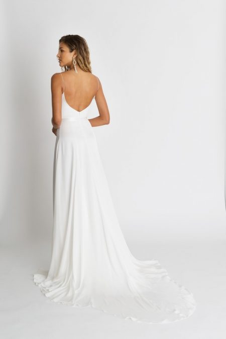 Back of Ruelle Wedding Dress from the Alexandra Grecco The Magic Hour 2018 Bridal Collection