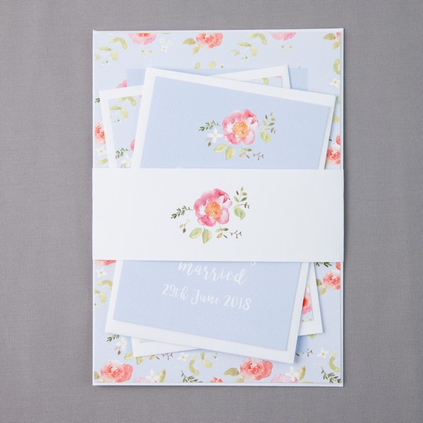Spring Floral Wedding Stationery by Anna Jayne Designs