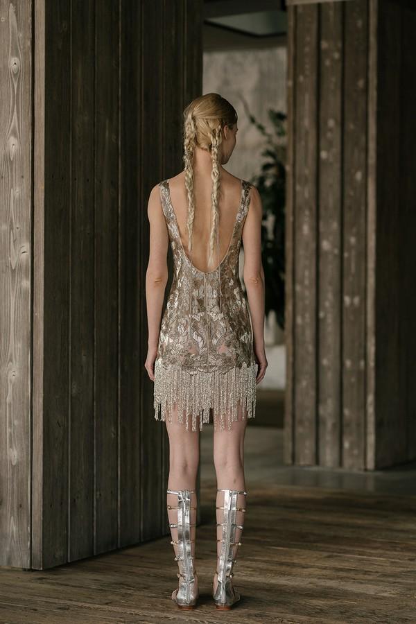 Back of Stewart Wedding Dress from the Rita Vinieris Rivini Spring 2019 Bridal Collection