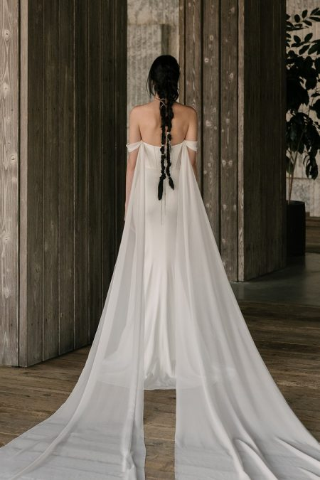 Back of Thorne Wedding Dress from the Rita Vinieris Rivini Spring 2019 Bridal Collection