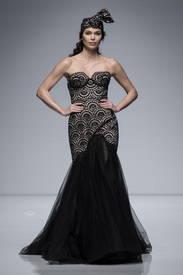 Valentini Spose 2019 Black Lace Fishtail Wedding Dress