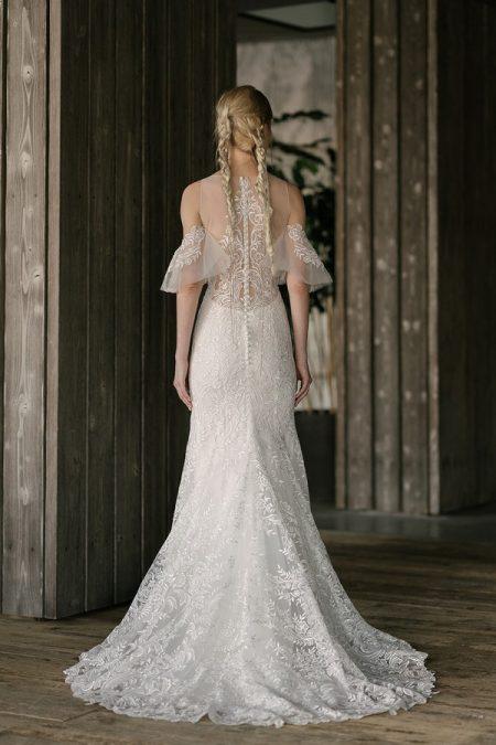 Back of Watson Wedding Dress from the Rita Vinieris Rivini Spring 2019 Bridal Collection