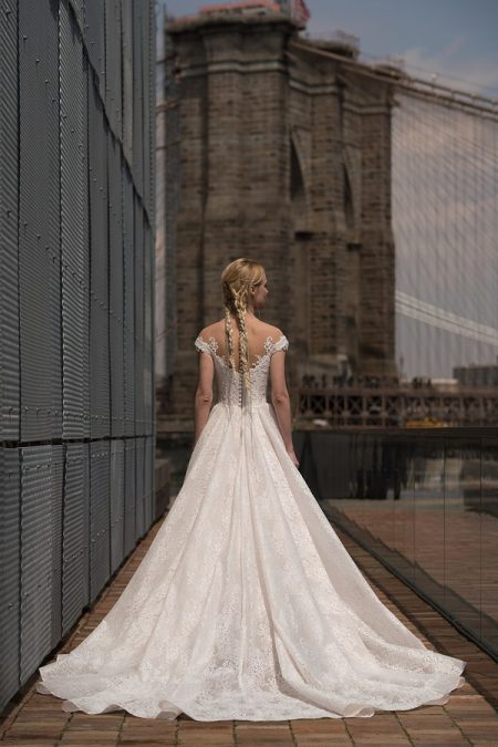 Back of West Wedding Dress from the Rita Vinieris Alyne Spring 2019 Bridal Collection