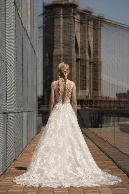 Back of Winfrey Wedding Dress from the Rita Vinieris Alyne Spring 2019 Bridal Collection