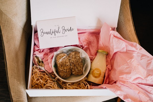 Bride's breakfast gift box from groom