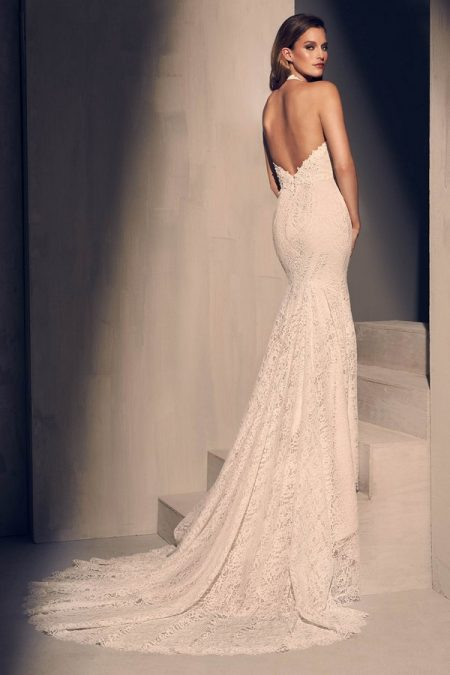 Back of 2205 Wedding Dress from the Mikaella Fall 2018 Bridal Collection