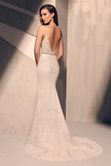 Back of 2215 Wedding Dress from the Mikaella Fall 2018 Bridal Collection