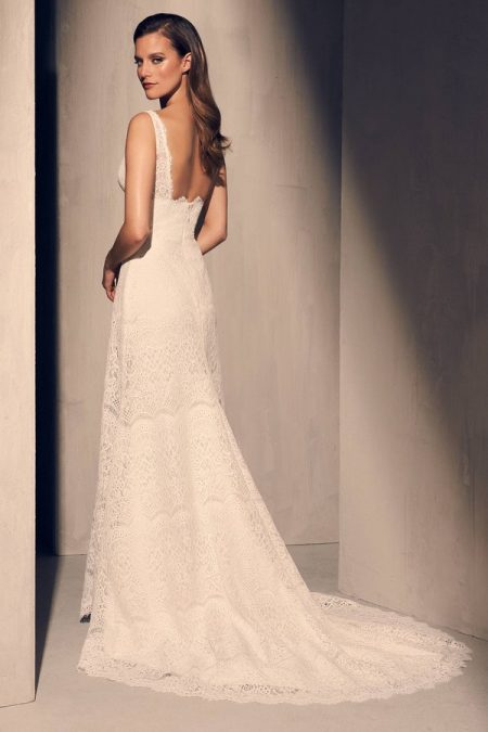 Back of 2217 Wedding Dress from the Mikaella Fall 2018 Bridal Collection