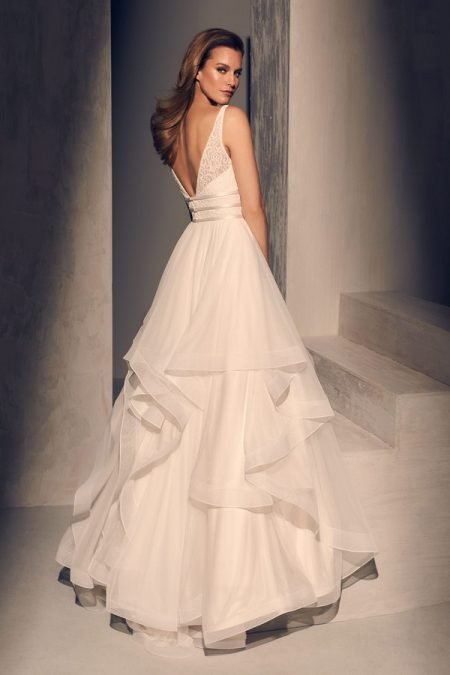 Back of 2218 Wedding Dress from the Mikaella Fall 2018 Bridal Collection