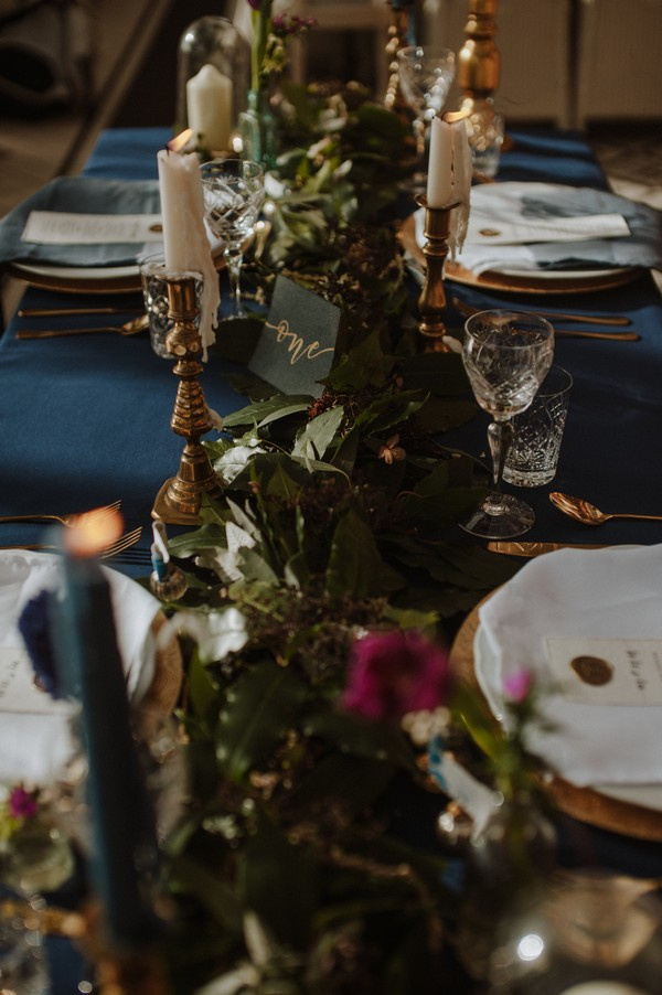 Foliage wedding table runner
