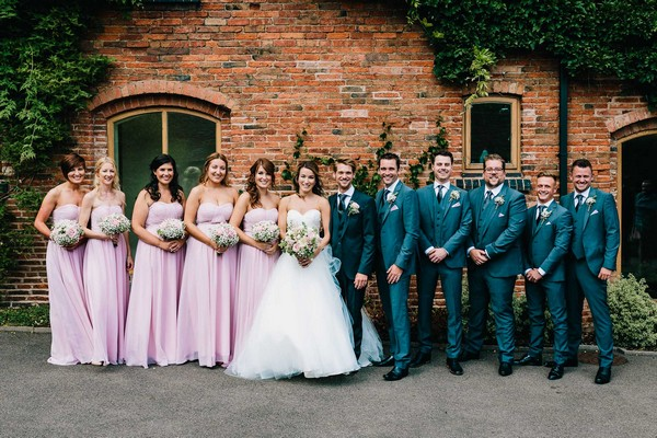 Bridal party at Mythe Barn