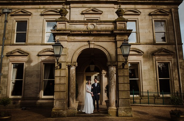 Bride and groom outside Kilworth House