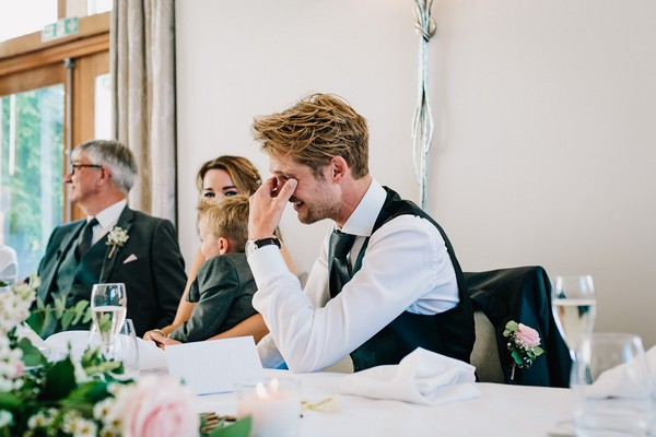 Groom embarrassed by speech
