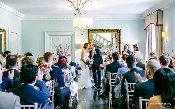 Wedding ceremony at Morden Hall
