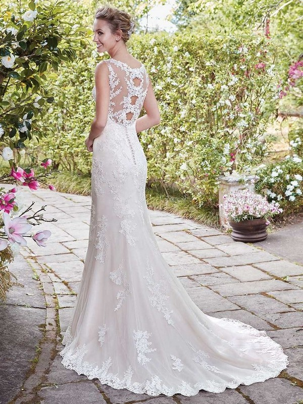 Rebecca Ingram Eloise keyhole back wedding dress