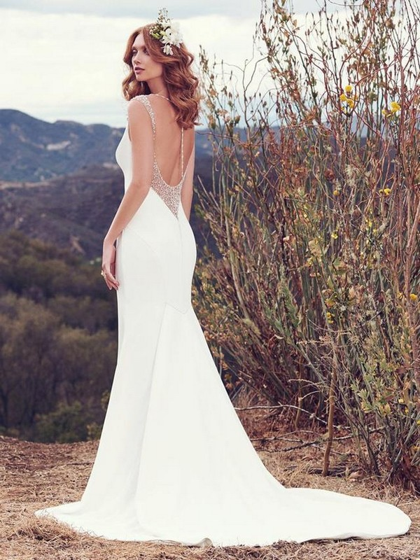 Maggie Sottero Evangelina wedding dress with back necklace