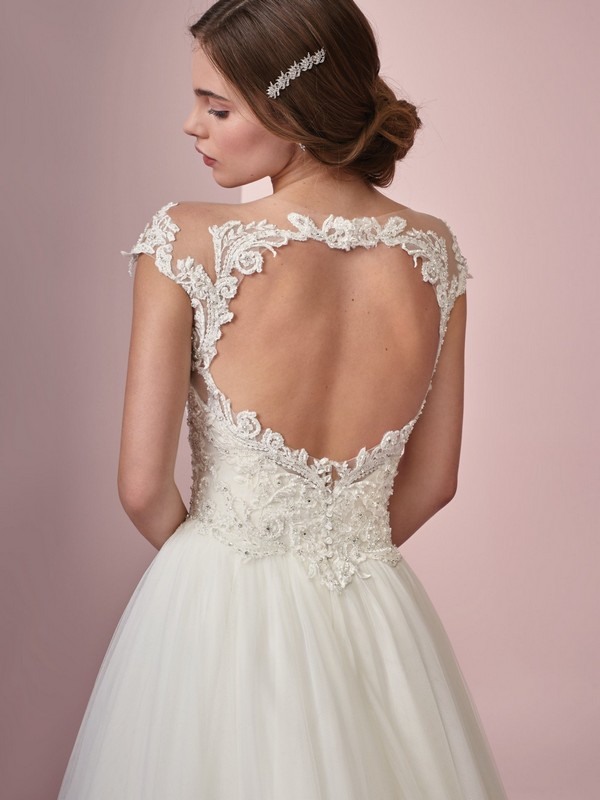 Rebecca Ingram Lois keyhole back wedding dress