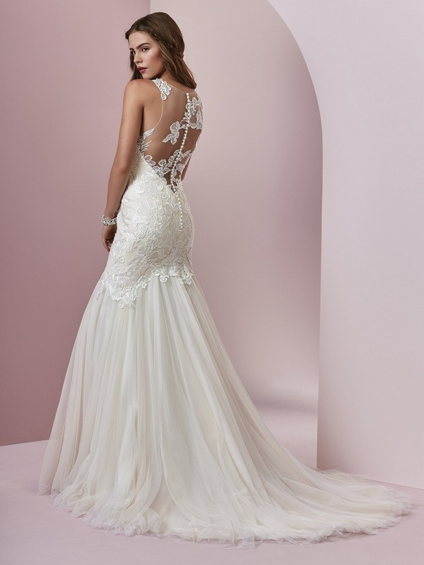Rebecca Ingram Mary sheer back wedding dress