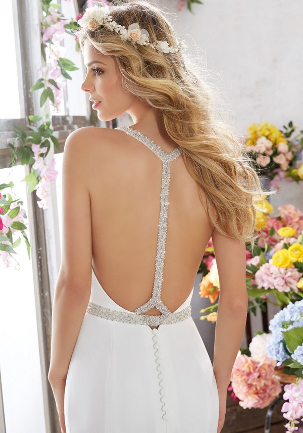 Mori Lee Melissa T back wedding dress