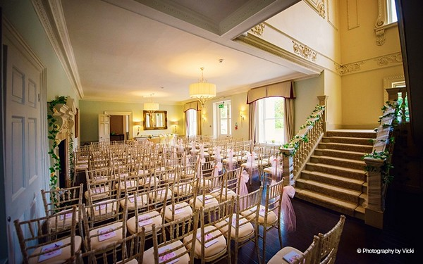 Willow Suite wedding ceremony seating at Morden Hall