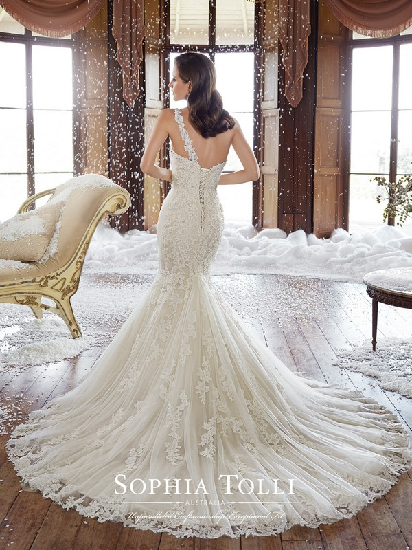 Sophia Tolli Y21501 Rory one shoulder wedding dress