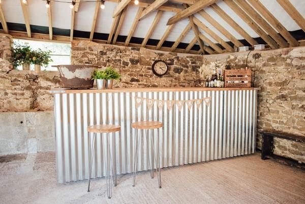 Bar in The Cowyard Barn at Pengenna Manor