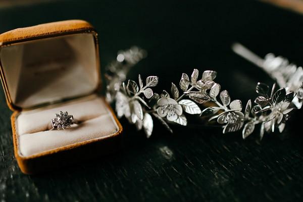 Wedding ring and headband