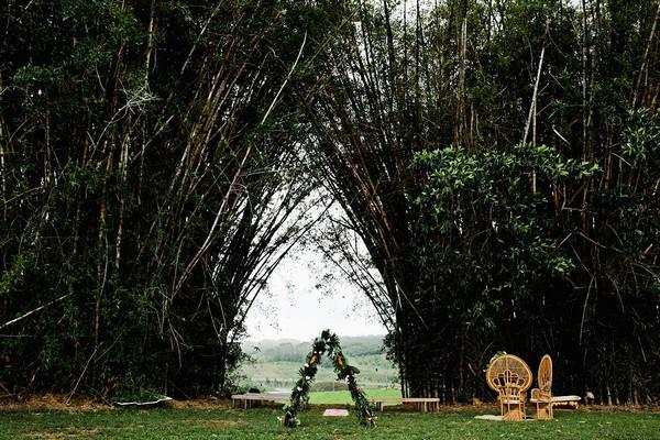Outdoor wedding ceremony space at Graciosa