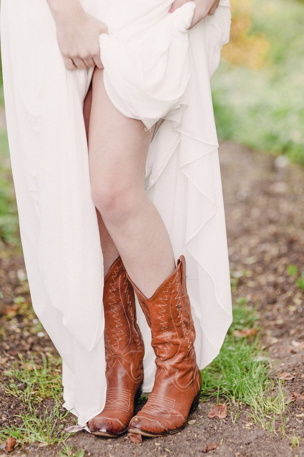 Bride's cowgirl boots