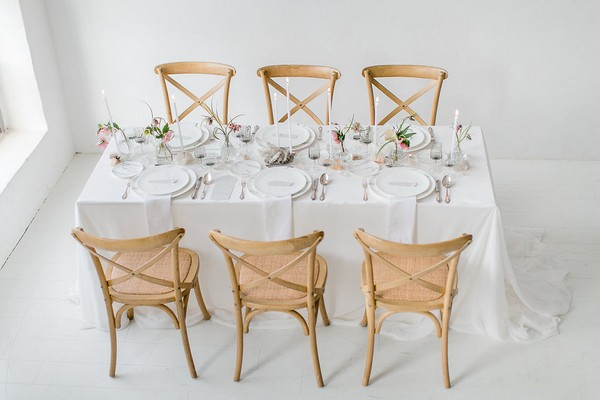 Wedding table and chairs for six
