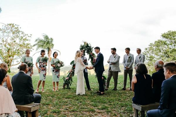 Outdoor wedding ceremony at Graciosa